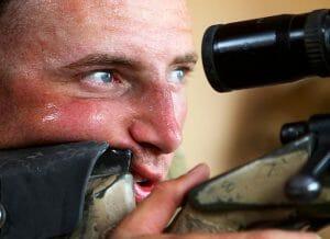US Marine sweating