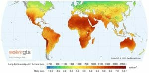 Solar GIS world map