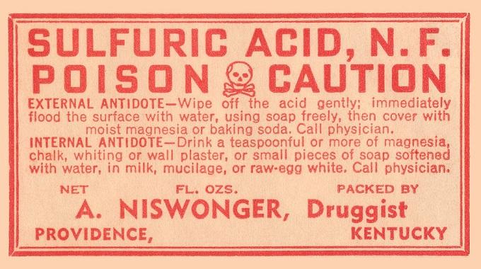 Old acid burn treatment instructions