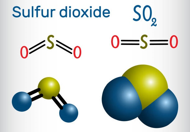 Sulfur dioxide structure