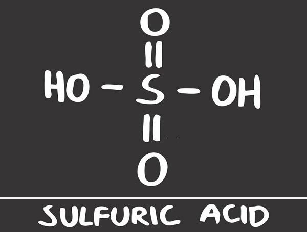 Sulfuric acid structure