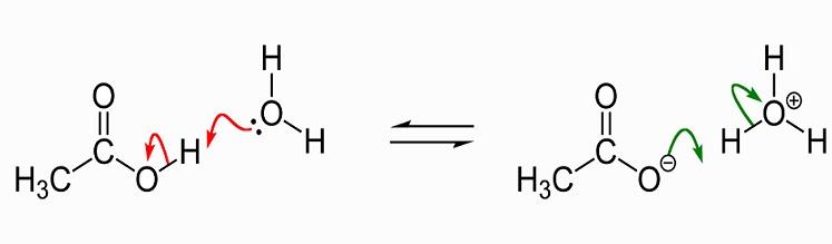 Acetic acid dissociation