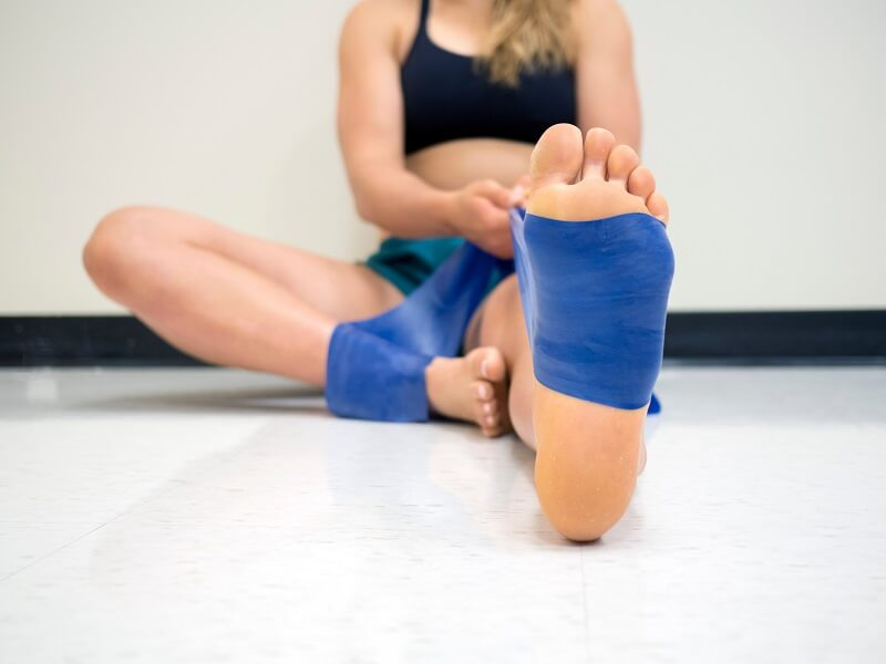 Dorsiflexion exercise to help plantar flexion contracture
