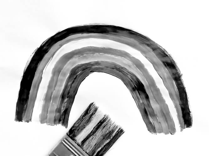 achromatopsia color blind black white visual occipital