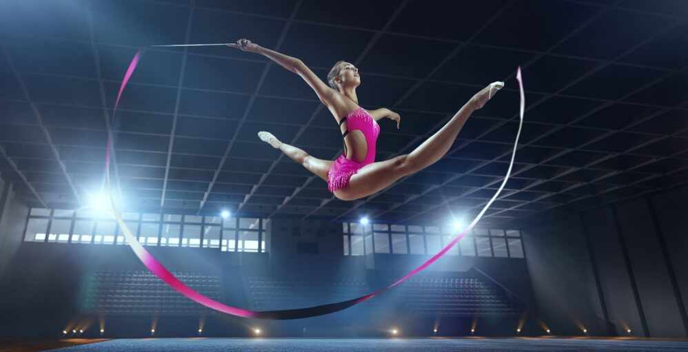 gymnast balance proprioception learned behavior