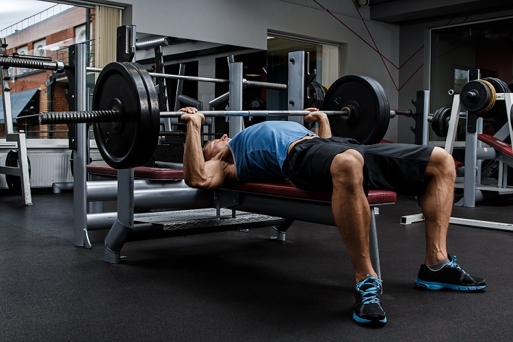 Bench pressing works out the pectoralis major muscle