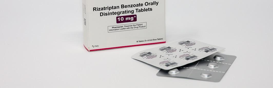 migrane medication rizatriptan benzoate serotonin agonist vasoconstriction