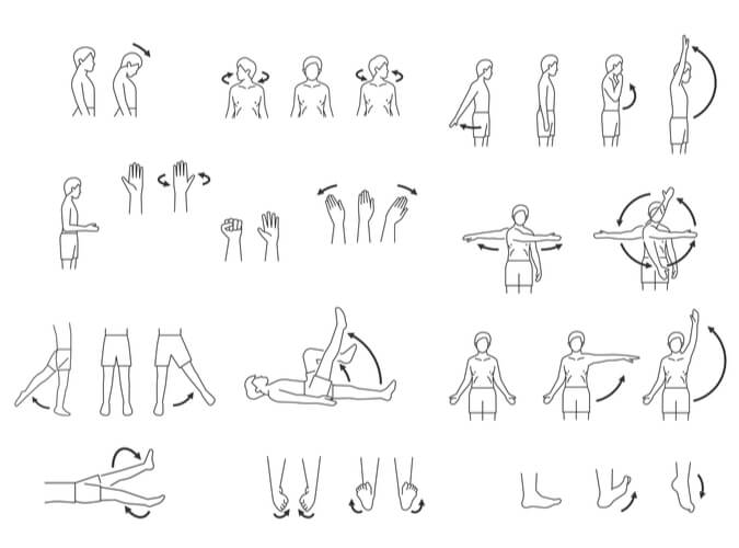 Various human vectors portraying before and after stances for muscle movements