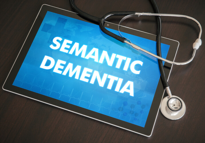 """Tablet saying """"Semantic Dementia"""" with stethoscope on top"""