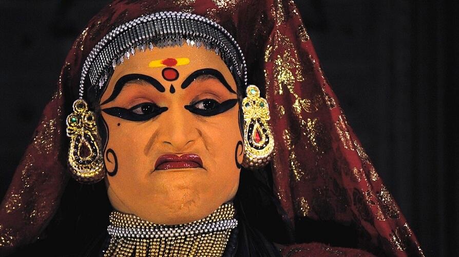 kathakali facial expression dance