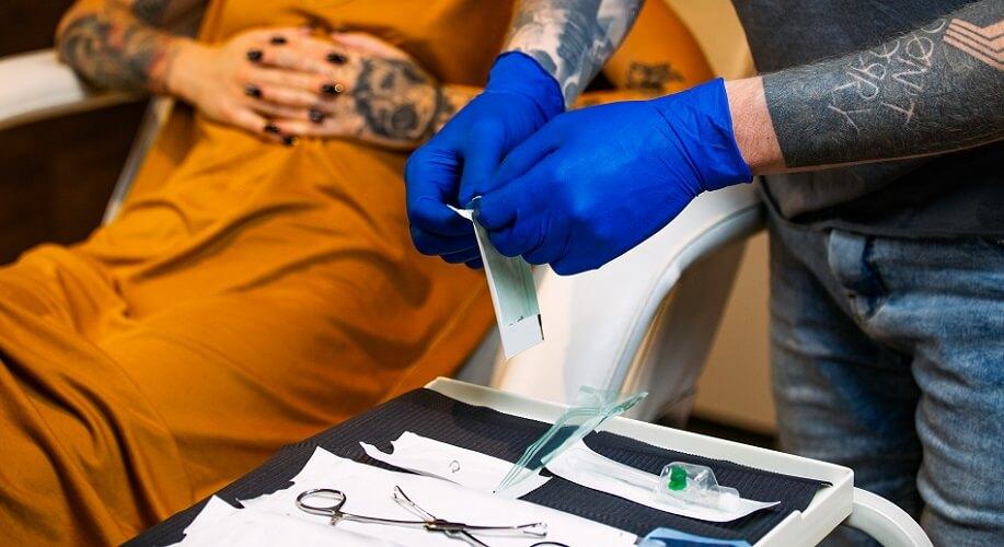 piercing sterile body facial