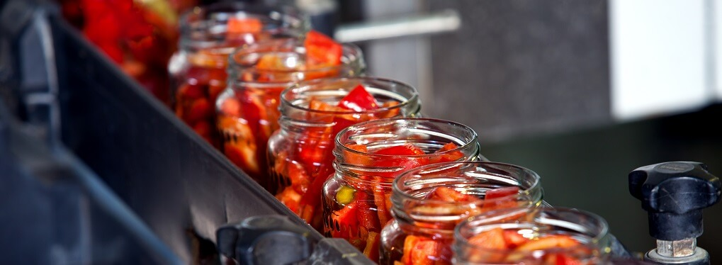 canning bottling factory line red peppers