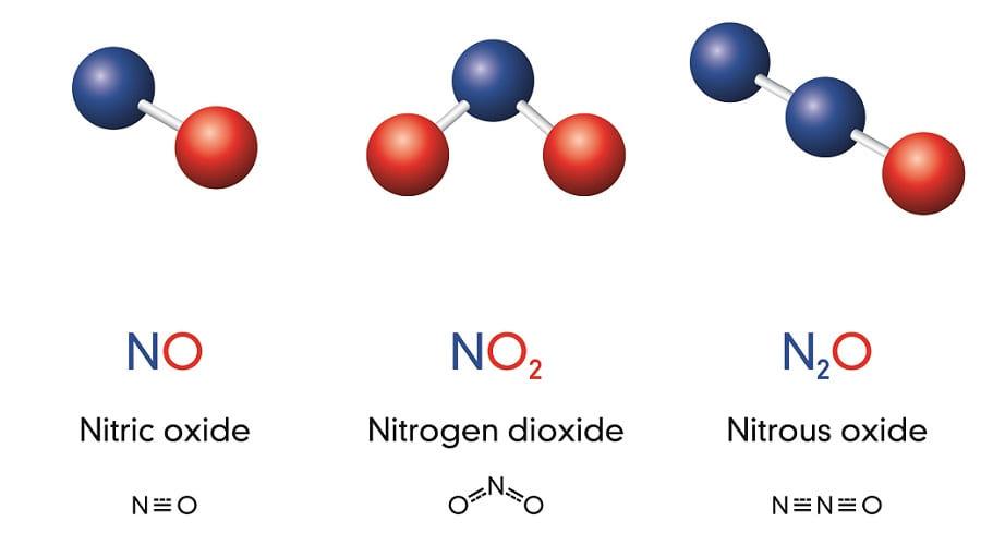 nitric oxide nitrogen dioxide nitrous oxide