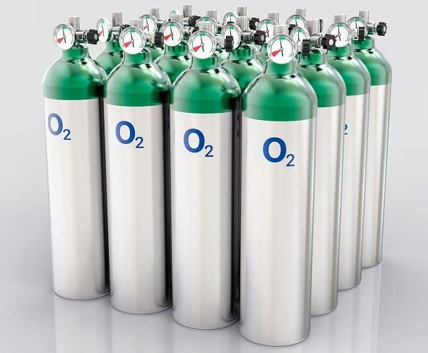 oxygen bottles cannisters O2