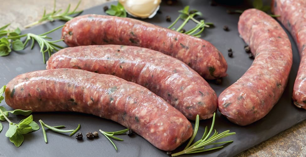 sausages raw meat pork beef botulism