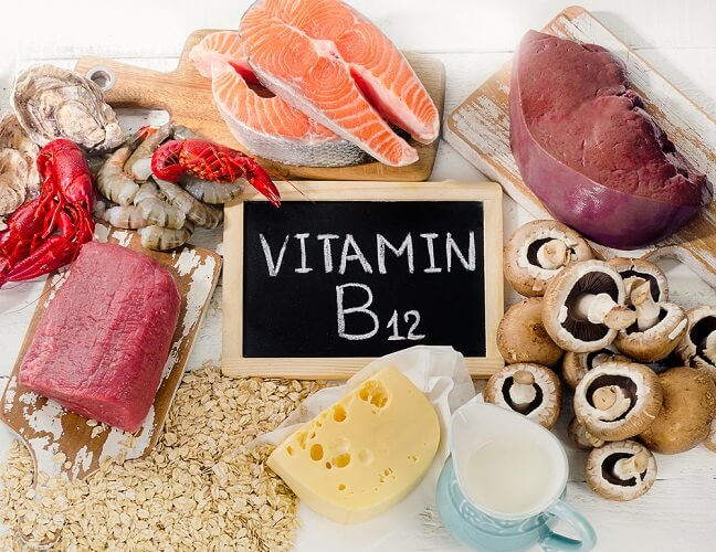 B12 sources dairy meat fish