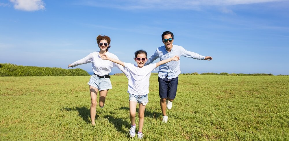 healthy family exercise