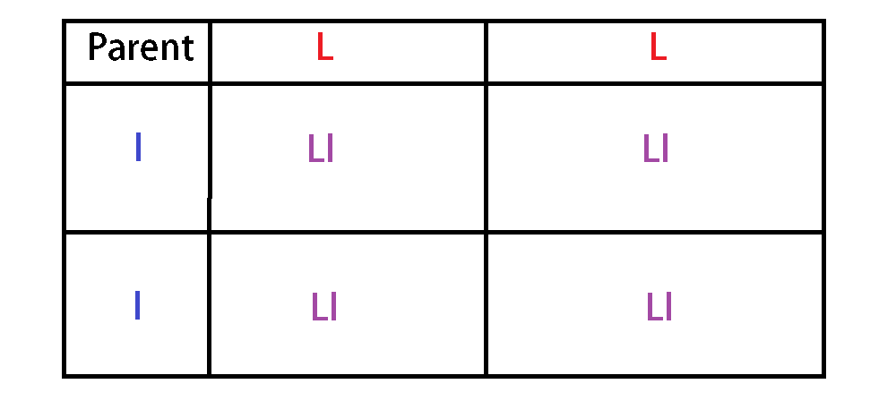 monohybrid cross punnett square phenotypic ratio