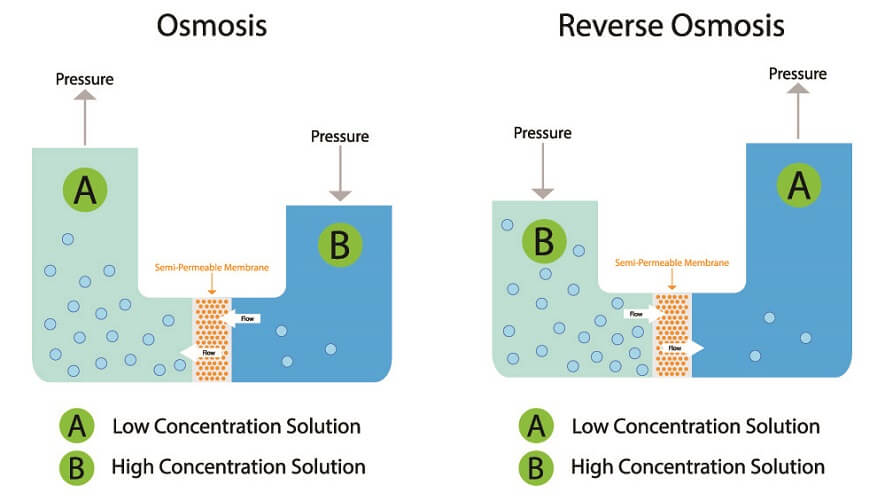 osmosis reverse concentration gradient