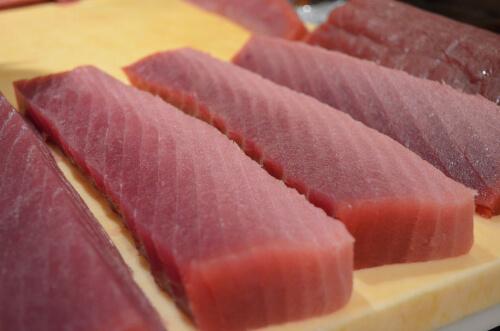 A photo of bigeye tuna sashimi