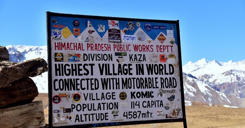 komic village himalayas india highest mountain epo